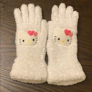 Hello kitty white gloves one size fit most NWOT